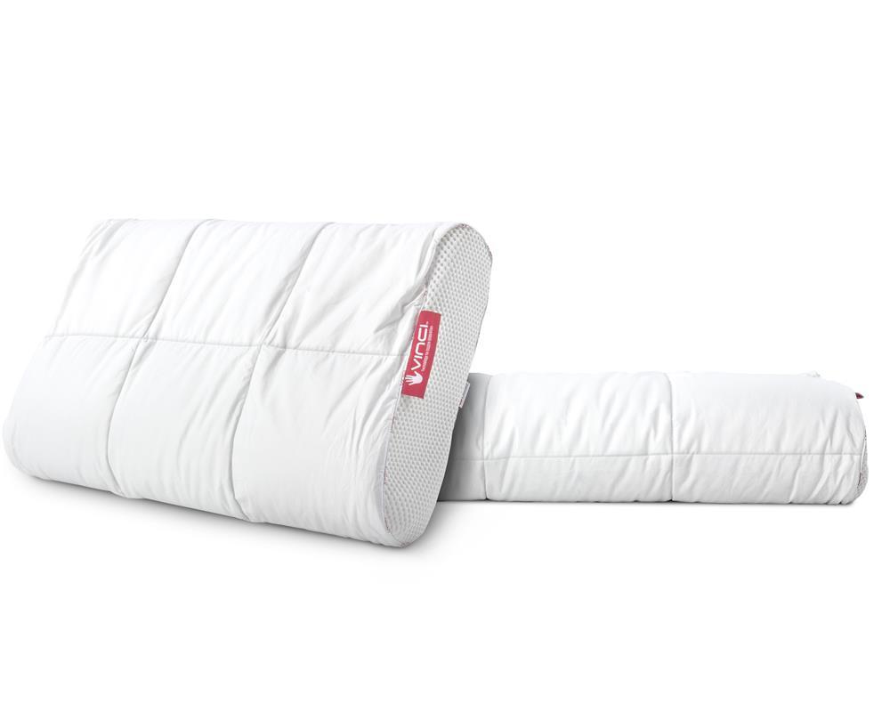 Vinci Down Deluxe Contour White Pillow